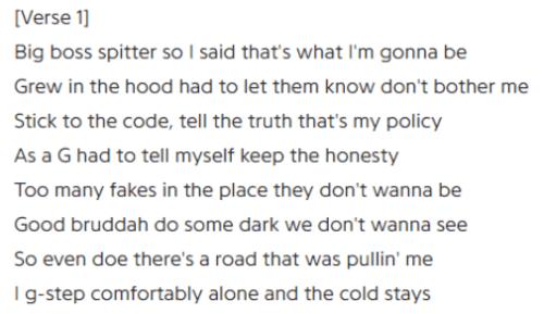 Novelist Gangster lyrics