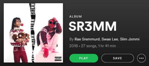 rae sremmurd Sr3mm album length