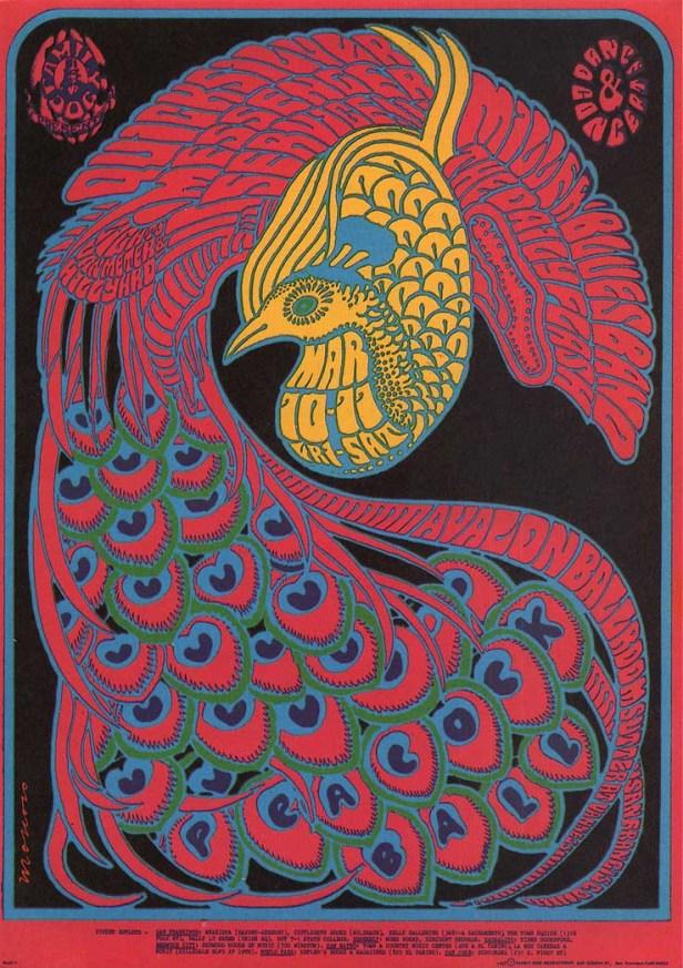 Quick silver Avalon ballroom san francisco march 1967 ,by Victor Moscoso