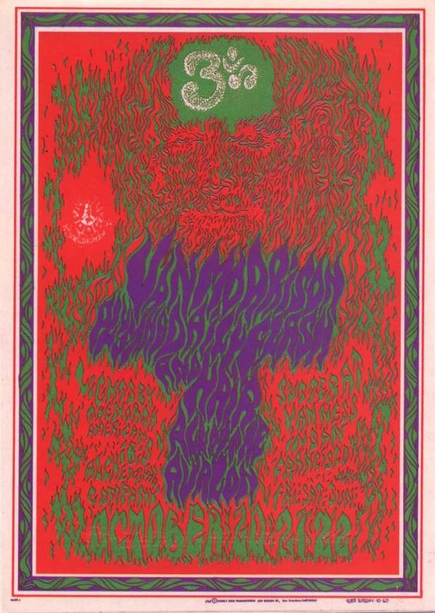 Van Morrison Avalon ballroom san francisco october 1967 ,by Wes Wilson