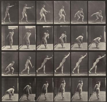 Eadweard J. Muybridge - Throwing an Iron Disk from Animal Locomotion