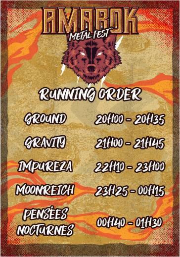 Amarok Metal Fest 2019 - running order vendredi