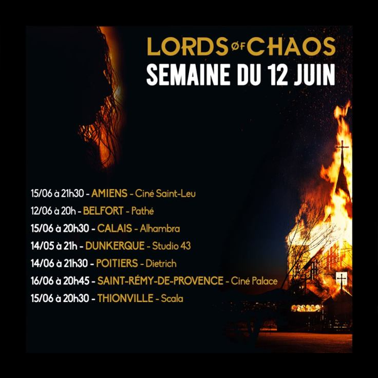 Lords Of Chaos - projections en France