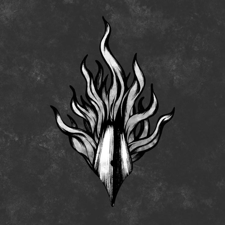 Éditions des Flammes Noires - logo Daphnéa Doto