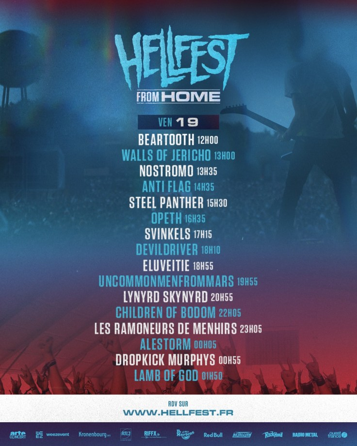 Hellfest From Home - running order Friday