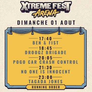 Xtreme Fest Arena 2021 - dimanche 1er