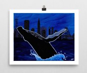 Whale_poster_8x10_wall horizontal_mockup
