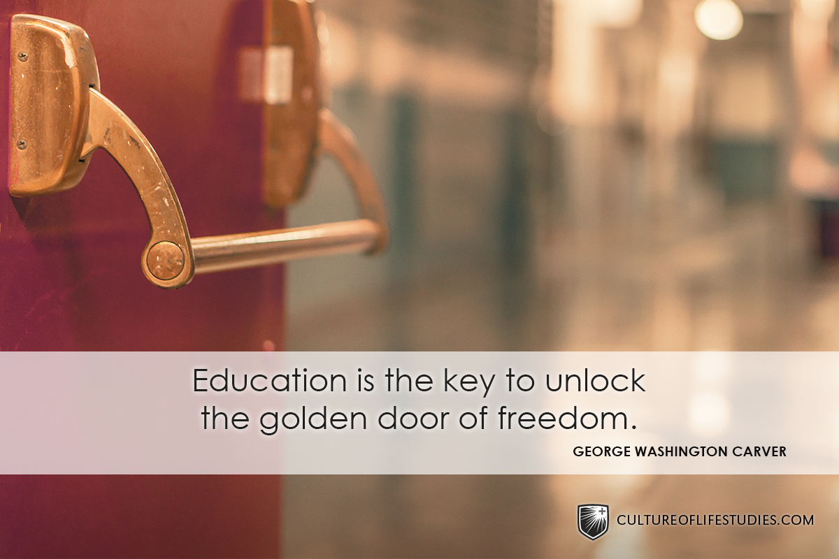 Education Is The Key To Unlock The Golden Door Of Freedom