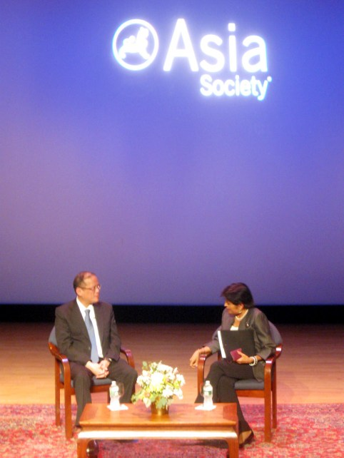 President Benigno Aquino III and Asia Society President Vishakha Desai in conversation on September 20, 2011 | Photo by Randy Gener