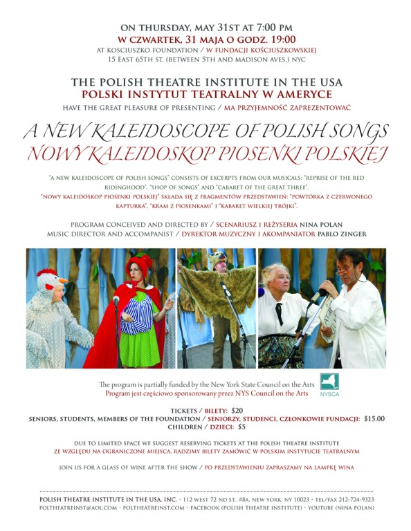 """Polish Theatre Institute in the USA's """"A New Kaleidoscope of Polish Songs"""""""