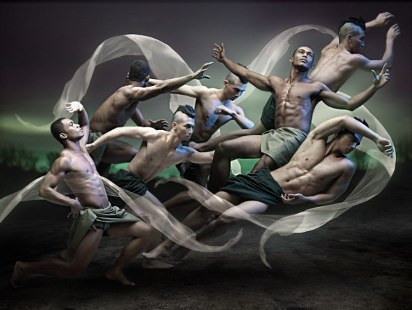 """""""The Brotherhood of Men"""" by Niccolo Cosme from """"Resplendor: The Blinding Light"""" exhibit 