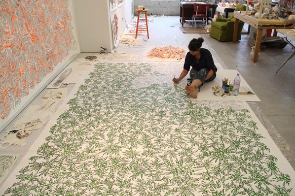 Natasha Bowdoin, artist-in-residence 2012 at Bemis Center in downtown Omaha, NE