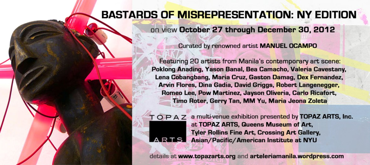 """Bastards of Misrepresentation: NY Edition"" an exhibition at Topaz Arts"
