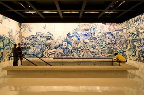 """Artwork: Adrian Varejão """"Celecanto provoca maremoto"""" 2008 (secon"""