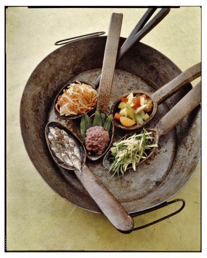 "Photo by Neal Oshima, designed by Chef Romy Dorotan. This photo is from the cookbook ""Memories of Philippine Kitchens,"" by Amy Besa and Romy Dorotan"