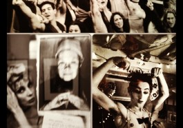 "Collage of Rivka S. Katvan photographs in ""Broadway Behind the Curtain"" at Soho Photo Gallery in NYC 