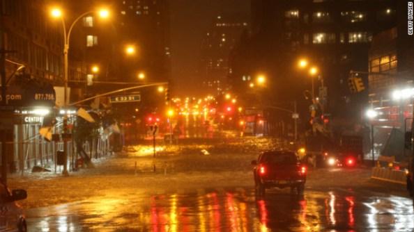 Heavy rains batter Manhattan on Monday Oct. 29, 2012 | Photo by CNN