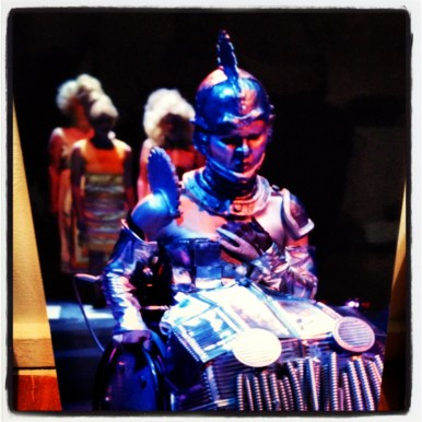 LaMaMa LaGalleria | THE WIZ, as envisioned by PHAMALy (Physically Handicapped Actors and Musical Artists League) of Denver, Colorado. Steve Wilson, director; Debbie S. Stark and Cindy Bray, choreographers; Charles Packard and Jennifer Orf, scenery; Mallory Kay Nelson, costume; Orf and Packard, lighting; Matthew Charles Swarz, sound