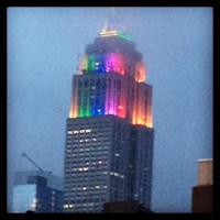GPS | NEW YORK:  Rainbow colors flood Empire State Building on Gay Pride