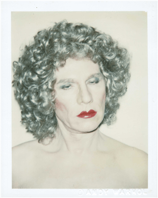 "Andy Warhol ""Self-Portrait in Drag"" (1981) 