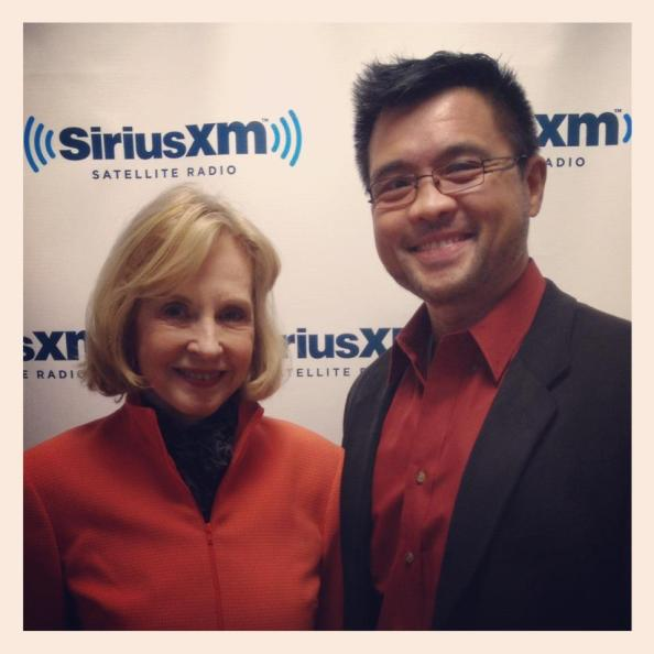 Pia Lindström and me at SiriusXM Radio Studios in New York City