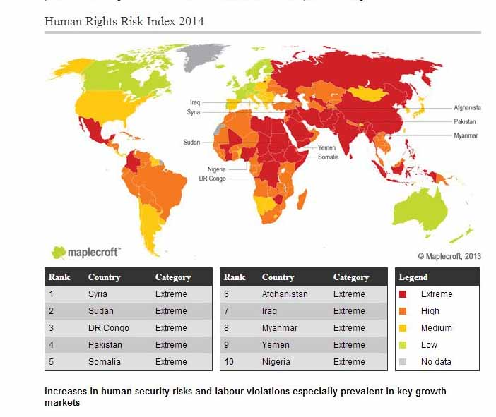 HUMAN RIGHTS |  Syria, Sudan, Congo, Pakistan lead 10 countries with worst human rights violations
