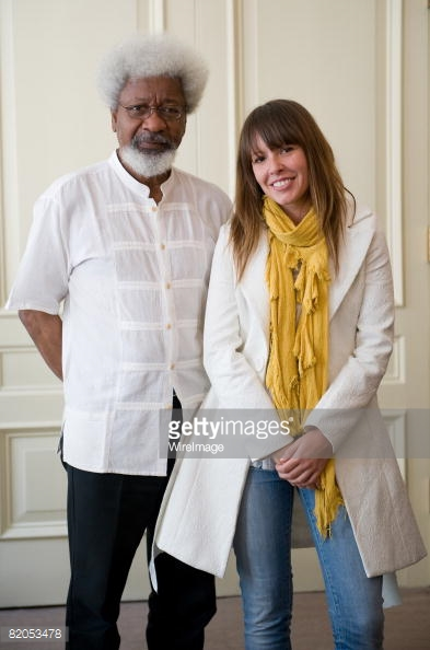 Nigerian novelist Wole Soyinka and protégé Tara June Winch