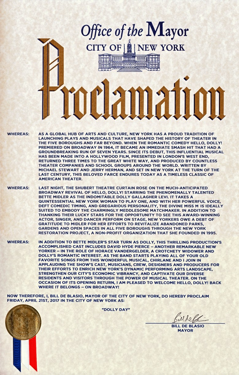"""""""Dolly Day"""" Proclamation"""