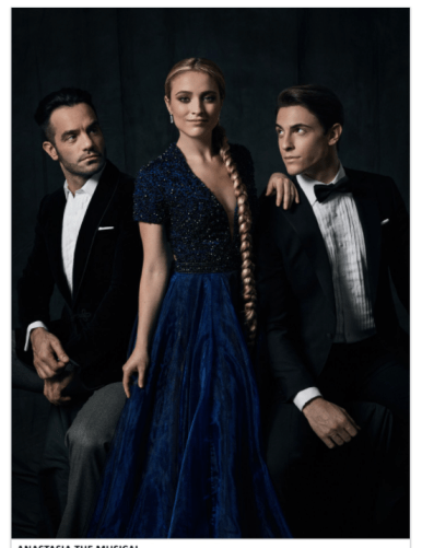 Christy Altomare, Derek Klena and the cast of ANASTASIA, Photo by Matthew Murphy, 2017