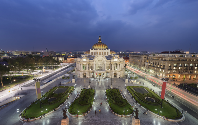 Travel + Leisure Mexico City Palace of Find Arts