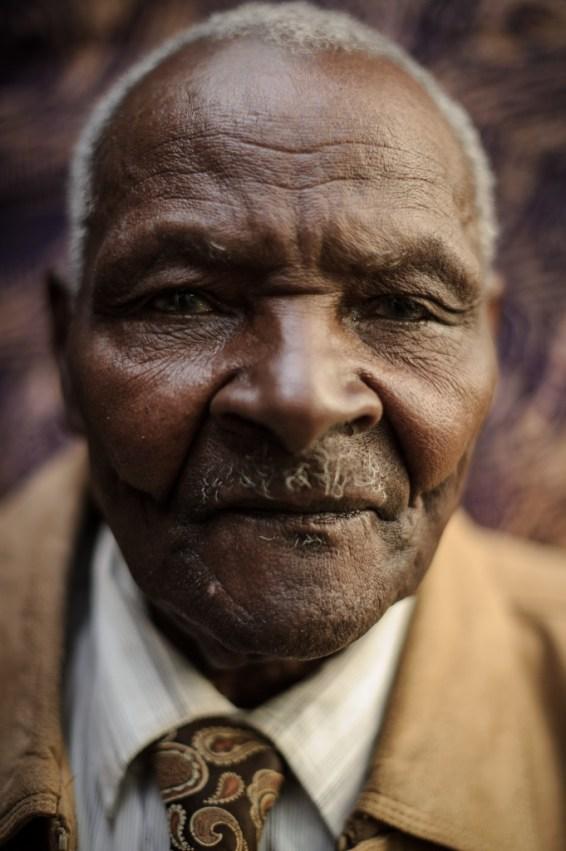 Wambugu Wa Nyingi - one of the three Mau Mau claiments - from near Nyeri, Kenya.