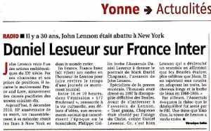Daniel Lesueur parle de Lennon en 2010