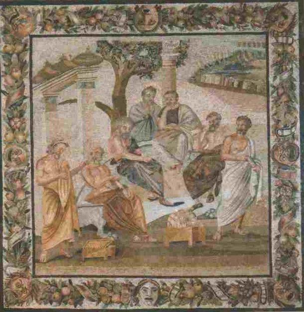 Platon, mosaïque du Musée Archéologique de Naples
