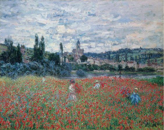 Champ de coquelicots de Monet