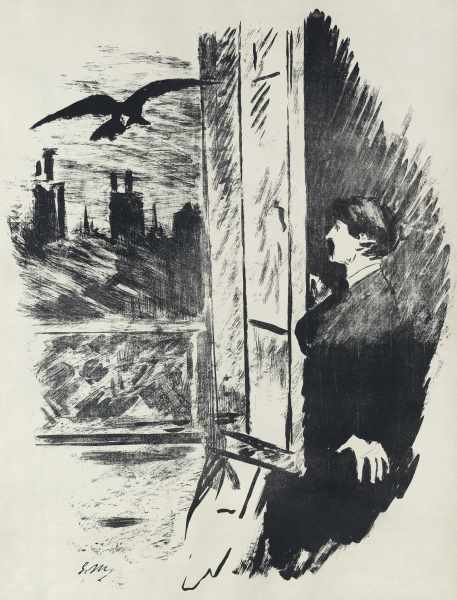 Lithographie d'Edouard manet