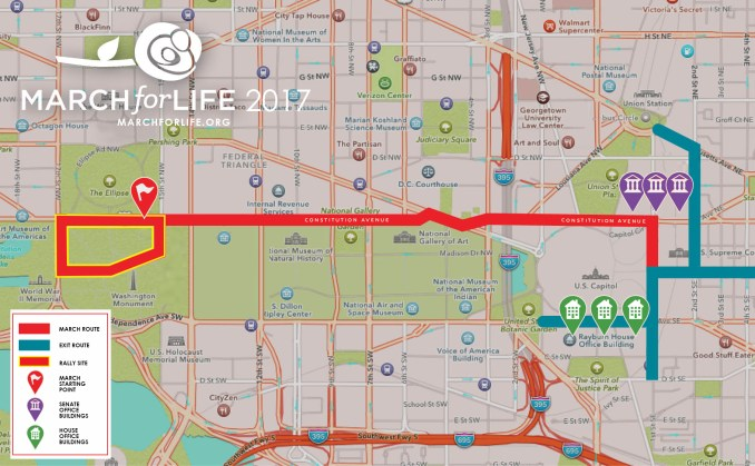 March for Life 2017 Route