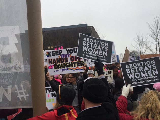 pro life group crashes women s march on washington