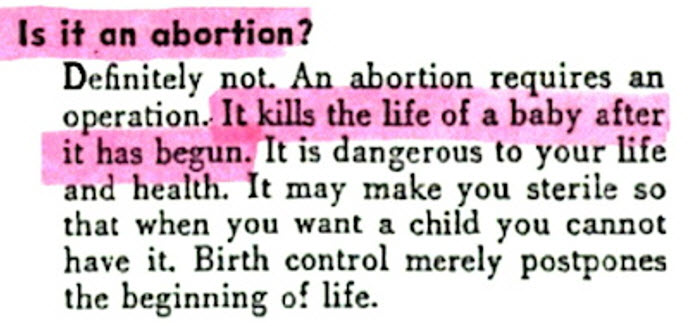 Planned Parenthood Pamphlet