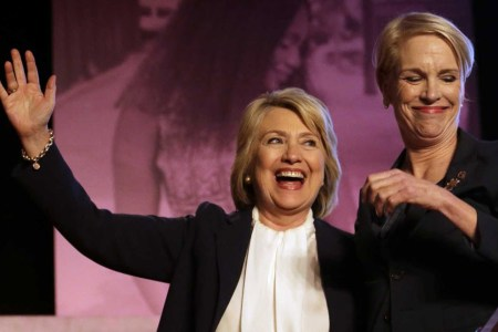 Cecile Richards With Hillary Clinton