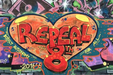 Repeal the 8th Graffiti