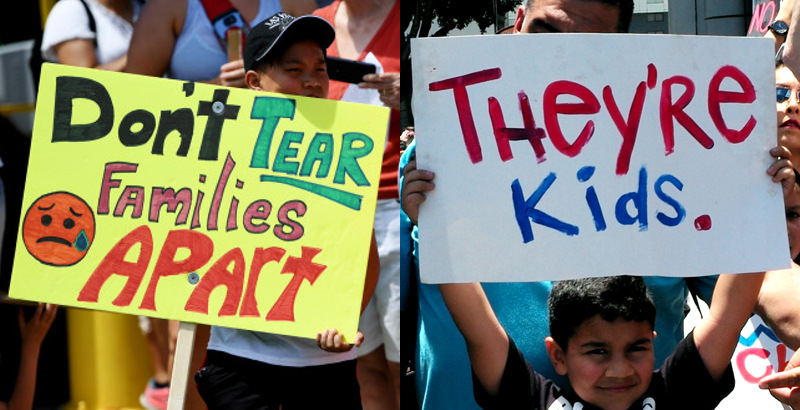Families Belong Together Signs