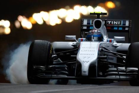 Valtteri Bottas (Williams) à l'attaque
