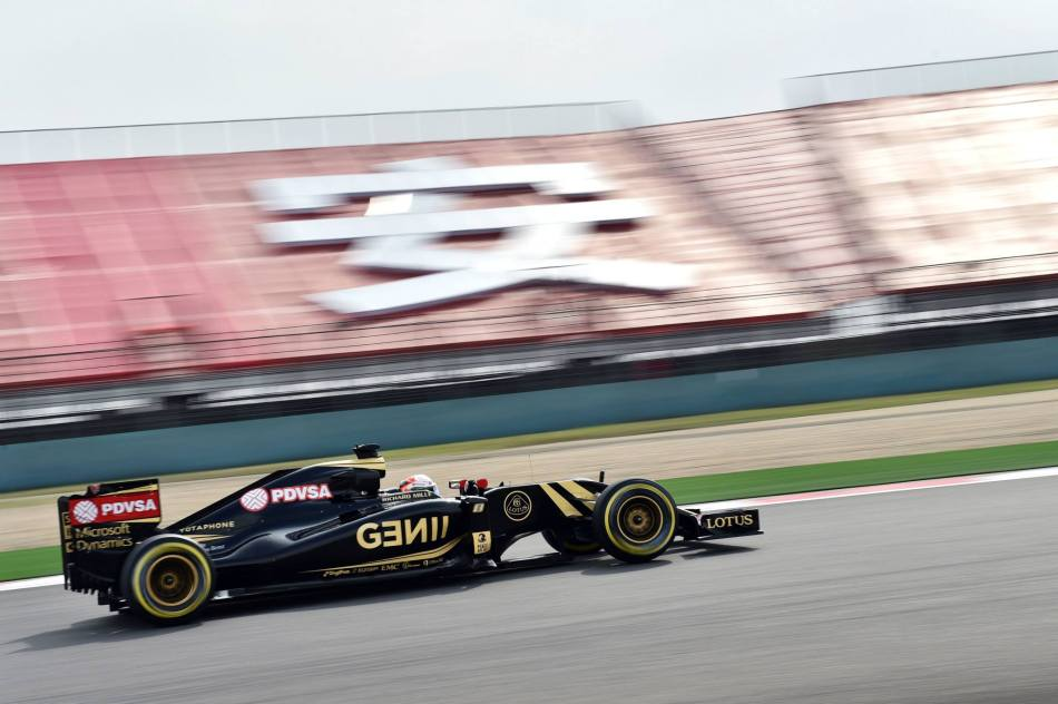 Romain Grosjean (Lotus) en route vers les points