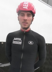 Boris Vallée (Lotto-Soudal) au départ de Waterloo.