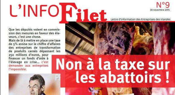 «Non à la taxe sur les abattoirs !»