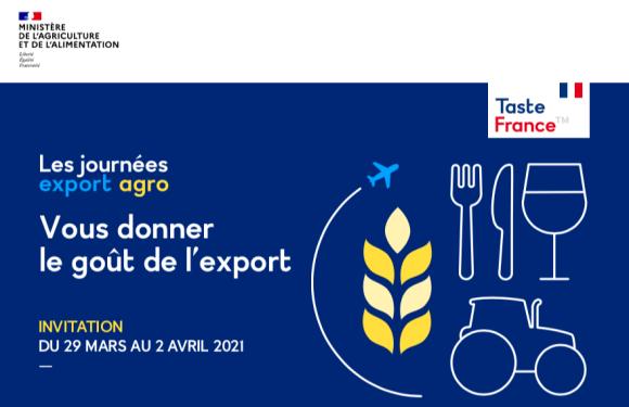 (Replay) Journées Export Agro 2021 (29 mars au 2 avril)