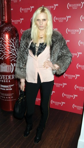 Andrej Pejic attending the Belvedere (RED) event held at Bagatelle in New York City