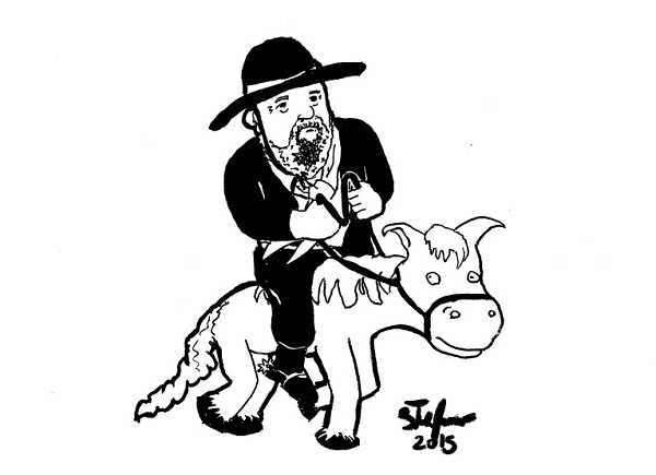 Blau Nunes - literatura gaúcha - desenho de Stefano Pfitscher