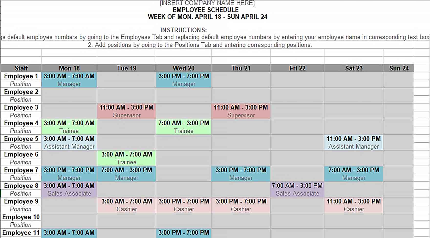 Ensure adequate shift coverage with an employee schedule. Monthly Shift Schedule Template Culturopedia