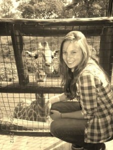 Feeding the Giraffes at the Center allowed me to get close with this little guy.